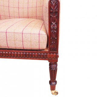 Antique Regency Mahogany Library Armchair