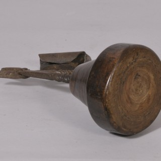 Antique Treen 18th Century Rushlight and Candle Holder