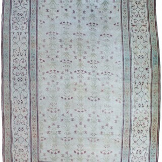 Rare ivory Antique Agra carpet, India, circa 1860