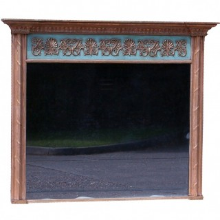 Antique Large Regency Gilt Overmantle Mirror