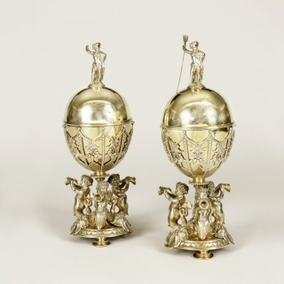 A Pair of Elkington & Company Lidded Confitures