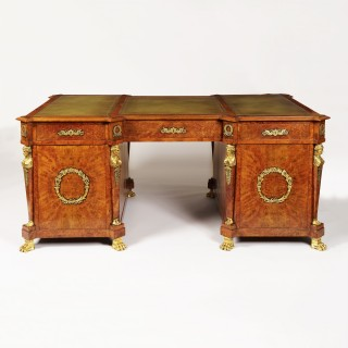 A Pedestal Desk in the French Empire Manner