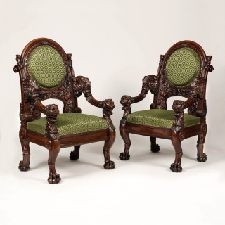 A Pair of Armchairs stamped Veuve Meunier of Paris