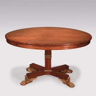 19th Century Regency padouk wood Breakfast Table