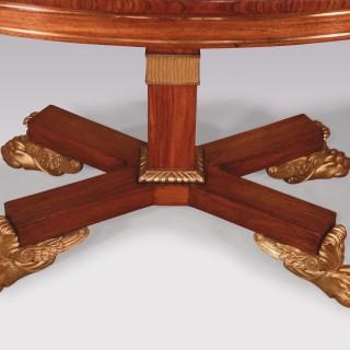 19th Century Regency padouk wood Breakfast Table