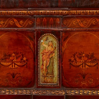 Large antique Edwardian Adam style sideboard