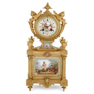 Louis XVI style mantel clock by Ernest Royer