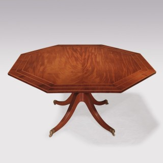 George III period mahogany octagonal Breakfast Table