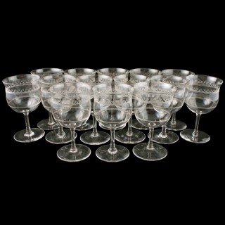 14 Edwardian Dessert Wine Glasses