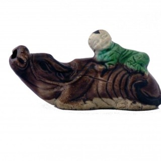 Chinese Famille Verte Biscuit Porcelain Water Dropper