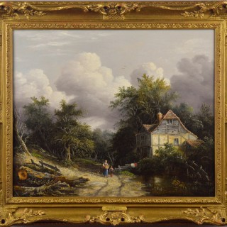 Cottage in a Wooded Landscape