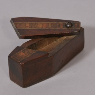 Antique Treen 19th Century Mahogany Naughty Novelty Snuff Box