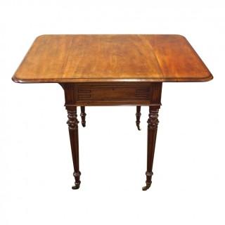 George IV Mahogany Drop Leaf Writing Table