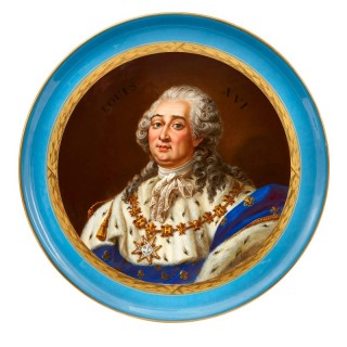 Sevres style porcelain plate depicting King Louis XVI