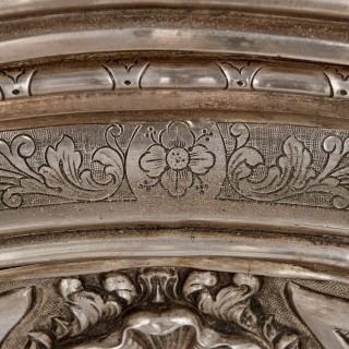 19th Century Italian Baroque style silvered stand