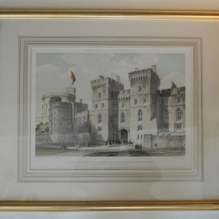 Set Of Six Large Lithographs of Windsor Castle