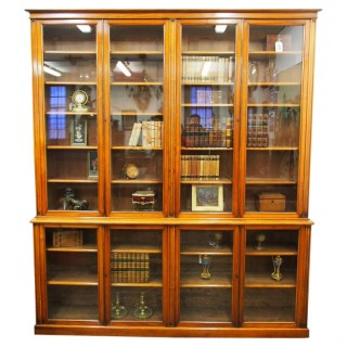 Victorian Red Walnut Display Cabinet or Bookcase