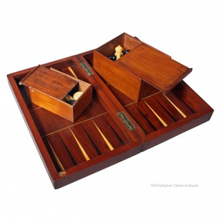 Antique Chess & Backgammon Set