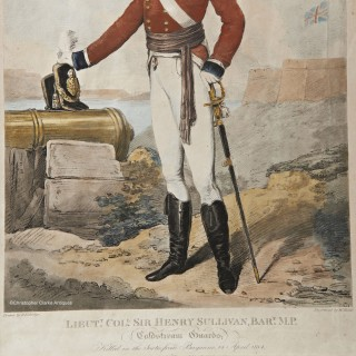 Edridge Portrait of Lieut. Col. Sir Henry Sullivan-Bart MP, Coldstream Guards