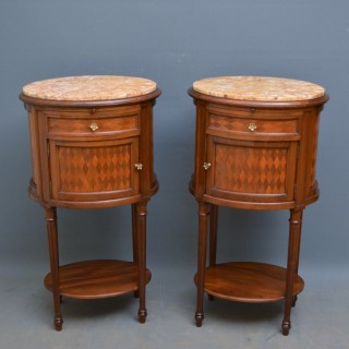 Pair of Turn of The Century Bedside Cabinets