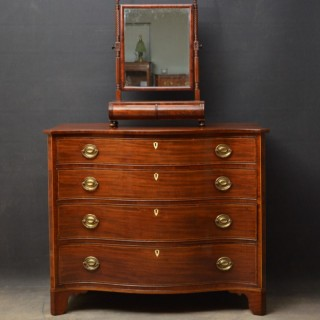 Regency Mahogany Serpentine Chest of Drawers