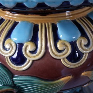Brown Westhead Moore and Co Majolica Garden Seat