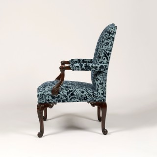 A Pair of Gainsborough Library Armchairs Taken from a design By Thomas Chippendale