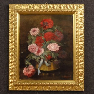 French still life painting oil on canvas