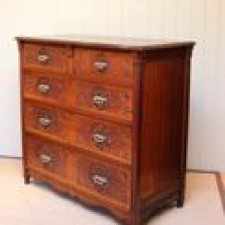 Solid Walnut Aesthetic Movement Chest Of Drawers