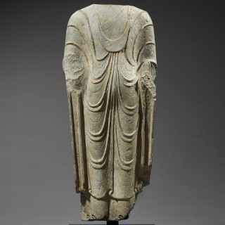 Ancient Figure of Standing Buddha, China, c.550-577 A.D.