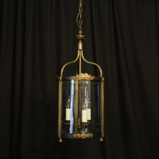 French Empire Triple Light Antique Hall Lantern