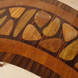 Design Kidney Shaped Inlaid Table 1950s