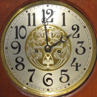 A very nice and decorative Dutch / Indonesian long case clock from circa: 1900, in 100% original condition and with a very important signature of the company