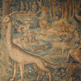 A Fine 16th century Belgian Tapestry with a Woodland Scene