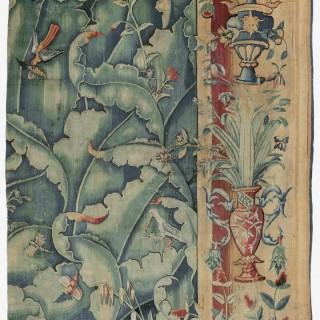 A 16th Century Giant Leaf Tapestry Fragment from the Netherlands