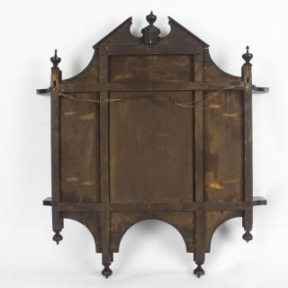 Antique Mahogany Inlaid Marquetry Mirror c.1900 - 73x67 cm