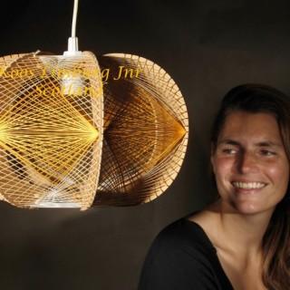 Design Art Hanging Light as a Sculpture,  Style of  Naum Gabo
