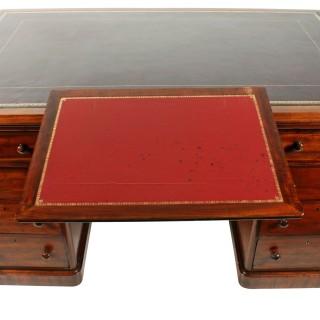 Victorian Mahogany Partner's Desk