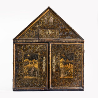 Museum quality English table cabinet, c1620.