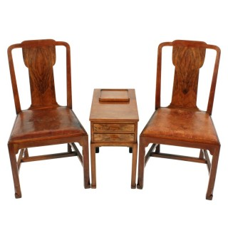Pair of Whytock & Reid Chairs & Side Table