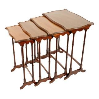 Nest of Four Mahogany Tables