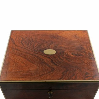 19th Century Brass Edged Rosewood Box