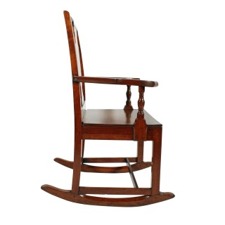 Country Walnut Rocking Chair