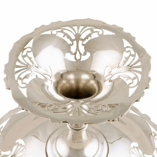 Art Nouveau Sterling Silver Tazza
