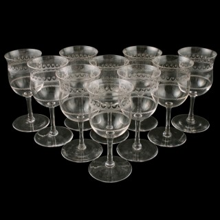 Ten Edwardian Sherry Glasses