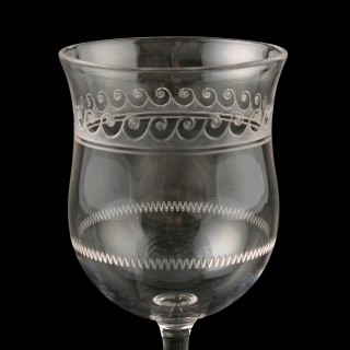 Ten Edwardian Sherry Glasses