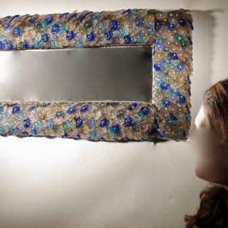 Illuminated Design Glass Mirror Possibly Murano