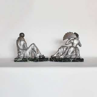Spelter Bookends