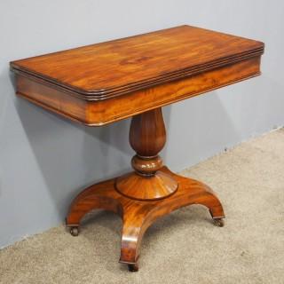 William IV Mahogany Fold Over Table