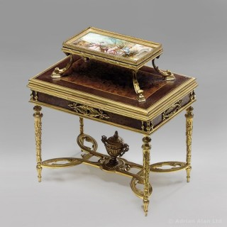 A Jewellery Box By Haardt Et Davos In The form Of A Miniature Etagère Table